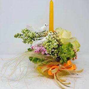 centrotavola-fiori-rose-lilla